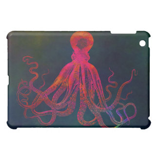 Caja roja 1 del iPad del pulpo