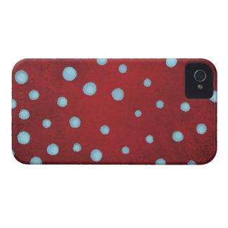 Caja roja 4s de Iphone de los lunares del azul de Funda Para iPhone 4 De Case-Mate