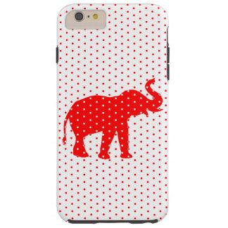 Caja roja afortunada del iPhone 6 del elefante Funda De iPhone 6 Plus Tough
