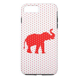 Caja roja afortunada del iPhone 7 del elefante Funda iPhone 7 Plus