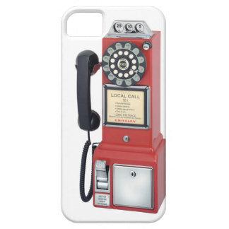 Caja roja antigua de Iphone del teléfono de pago iPhone 5 Case-Mate Cárcasa
