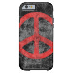 Caja roja apenada del iPhone 6 del signo de la paz