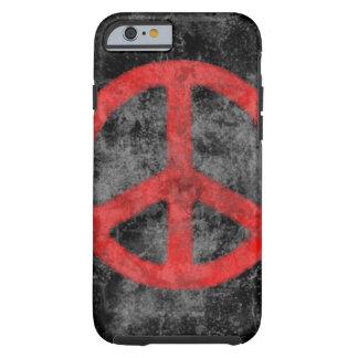 Caja roja apenada del iPhone 6 del signo de la paz Funda De iPhone 6 Tough