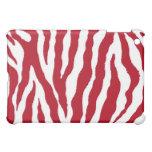 Caja roja/blanca del iPad de la raya del tigre