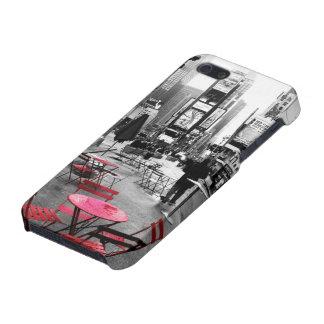 Caja roja blanca negra del iPhone 5 del Times Squa iPhone 5 Coberturas