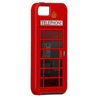 Caja roja británica clásica del iPhone 5 de la cab iPhone 5 Cobertura