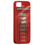 Caja roja británica clásica del iPhone 5 de la iPhone 5 Carcasas