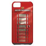 Caja roja británica clásica del iPhone 5C de la ca