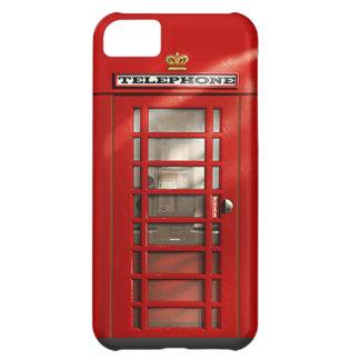 Caja roja británica clásica del iPhone 5C de la ca Funda Para iPhone 5C