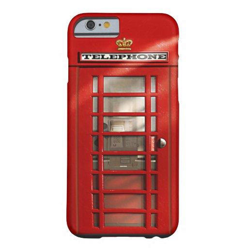 Caja roja británica clásica del iPhone 6 de la Funda De iPhone 6 Barely There