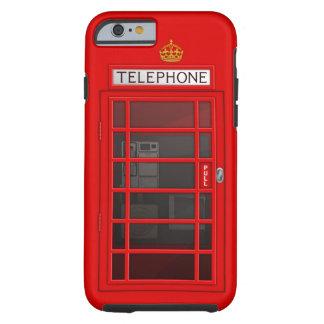 Caja roja británica clásica del iPhone 6 de la Funda De iPhone 6 Tough