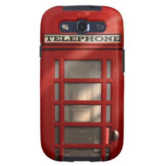 Caja roja británica de la galaxia de Phonebox Sams Samsung Galaxy S3 Cárcasas