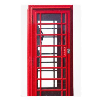 Caja roja británica famosa de la cabina de personalized stationery