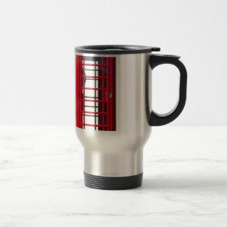 Caja roja británica famosa de la cabina de taza de viaje de acero inoxidable