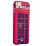 Caja roja británica original del teléfono funda de iPhone 6 plus barely there