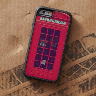 Caja roja británica original del teléfono funda de iPhone 6 tough xtreme