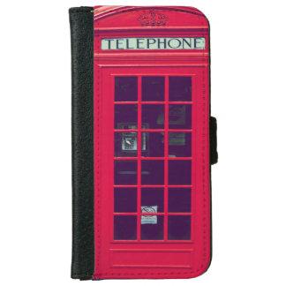 Caja roja británica original del teléfono funda cartera para iPhone 6