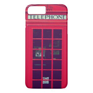 Caja roja británica original del teléfono funda iPhone 7 plus