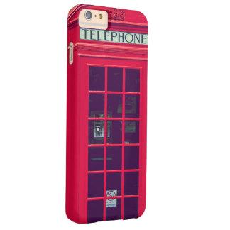 Caja roja británica original del teléfono funda para iPhone 6 plus barely there