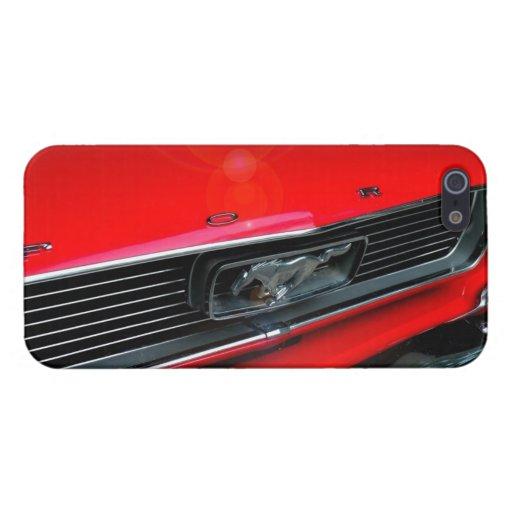 Caja roja clásica del mustango iPhone5 iPhone 5 Fundas