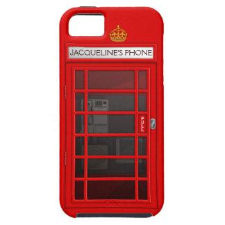 Caja roja conocida personalizada del iPhone 5 de l iPhone 5 Case-Mate Protector