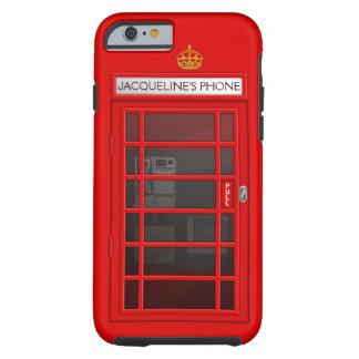 Caja roja conocida personalizada del iPhone 6 de Funda Para iPhone 6 Tough