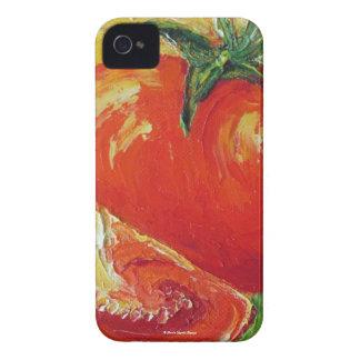 Caja roja de Blackberry de los tomates Funda Para iPhone 4 De Case-Mate