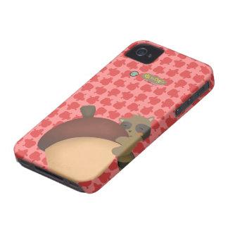 Caja roja de Blackberry del pequeño Racoon Case-Mate iPhone 4 Funda