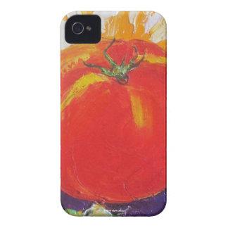Caja roja de Blackberry del tomate Funda Para iPhone 4 De Case-Mate