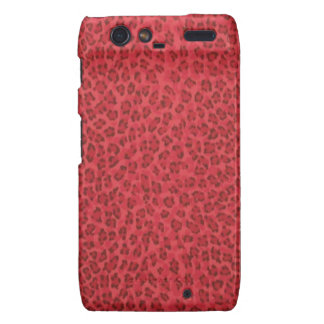 Caja roja de Droid Razr del leopardo Motorola Droid RAZR Carcasa