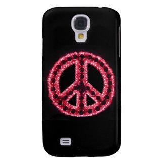 Caja roja de IPhone 3 de la paz