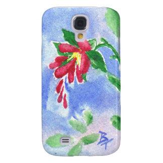 Caja roja de IPhone 3 del aceo de la flor del amor