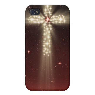 Caja roja de Iphone 4 de la cruz de la estrella de iPhone 4/4S Funda