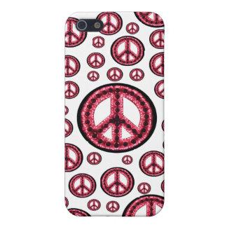 Caja roja de IPhone 4 de la Multi-Paz iPhone 5 Coberturas