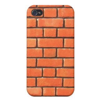 Caja roja de Iphone 4 de la pared de ladrillo iPhone 4/4S Fundas