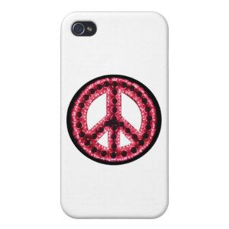 Caja roja de IPhone 4 de la paz iPhone 4 Funda