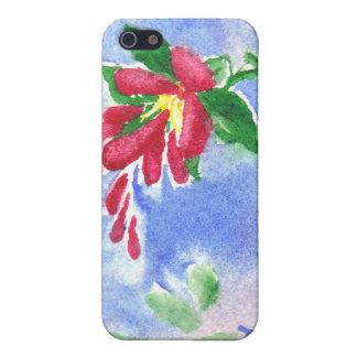 Caja roja de IPhone 4 del aceo de la flor del amor iPhone 5 Carcasas