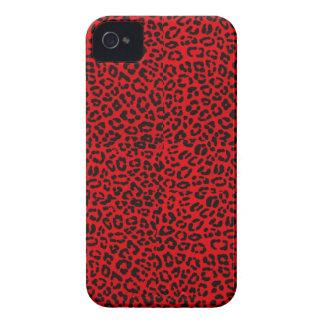 Caja roja de Iphone 4S del estampado leopardo iPhone 4 Case-Mate Carcasa