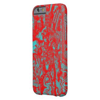 Caja roja de Iphone 6 del vaquero Funda Barely There iPhone 6