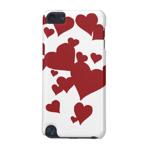 Caja roja de IPod de los corazones