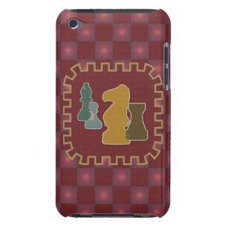 Caja roja de iPod de los pedazos de ajedrez iPod Case-Mate Cárcasa