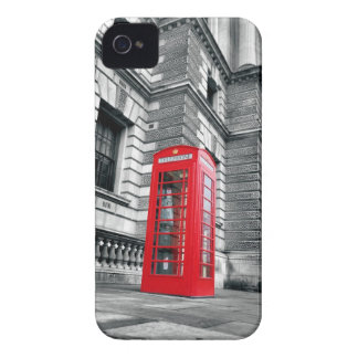 Caja roja de la cabina de teléfono de Londres iPhone 4 Protector