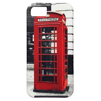 caja roja de la cabina de teléfonos del iPhone iPhone 5 Carcasa