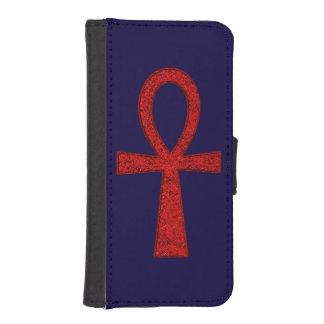Caja roja de la cartera de Ankh Funda Tipo Billetera Para iPhone 5