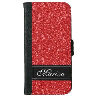 Caja roja de la cartera del iPhone 6 de la cinta Funda Cartera Para iPhone 6