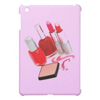 Caja roja de la cubierta del iPad del esmalte de u