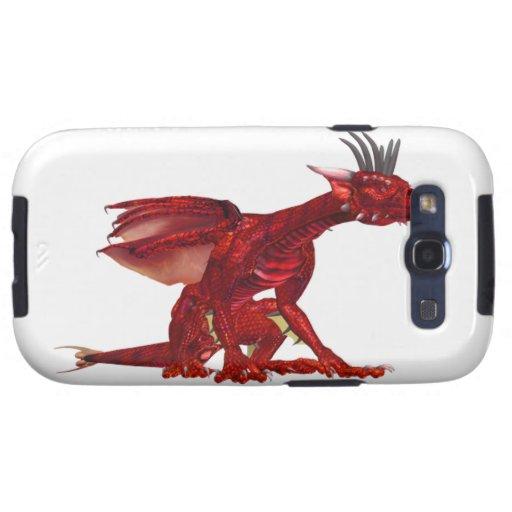 Caja roja de la galaxia de Samsung del dragón Galaxy S3 Carcasas