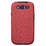 Caja roja de la galaxia de Samsung del estampado l Galaxy S3 Cárcasa