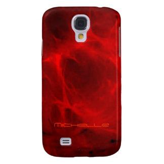 Caja roja de la galaxia s4 de Samsung de Michelle Funda Para Galaxy S4