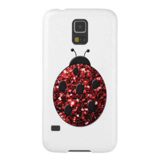 Caja roja de la galaxia S5 de Samsung de la mirada Funda Para Galaxy S5
